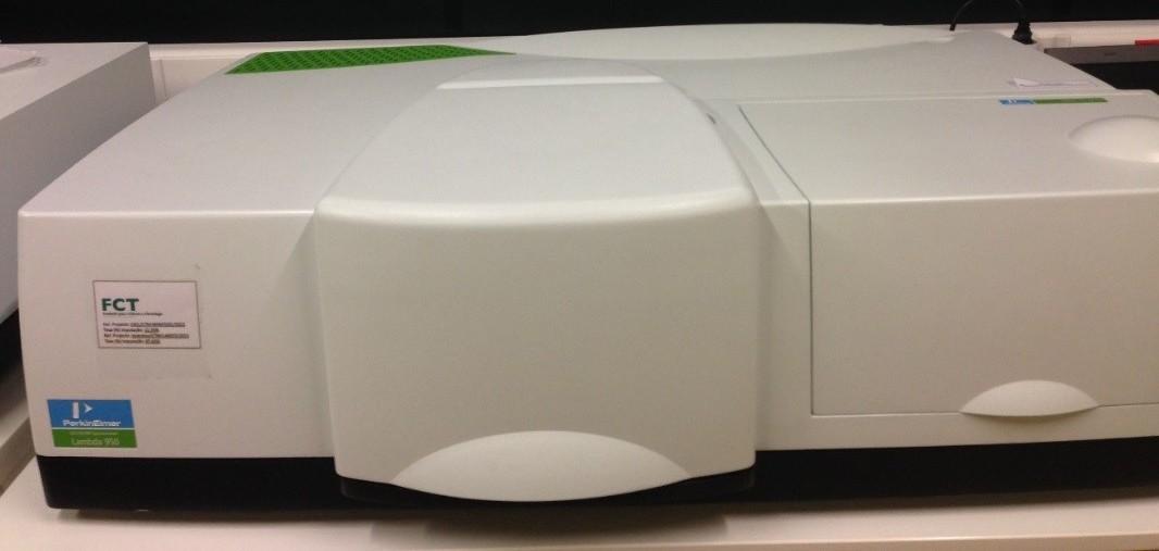 Spectrometer UV-Vis-NIR - Perkin Elmer Lambda 950 | CENIMAT